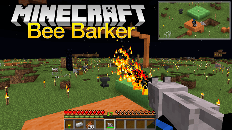 Bee Barker mod for minecraft logo