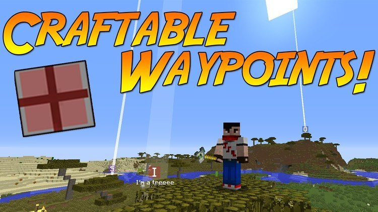 craftable waypoints mod for minecraft Logo