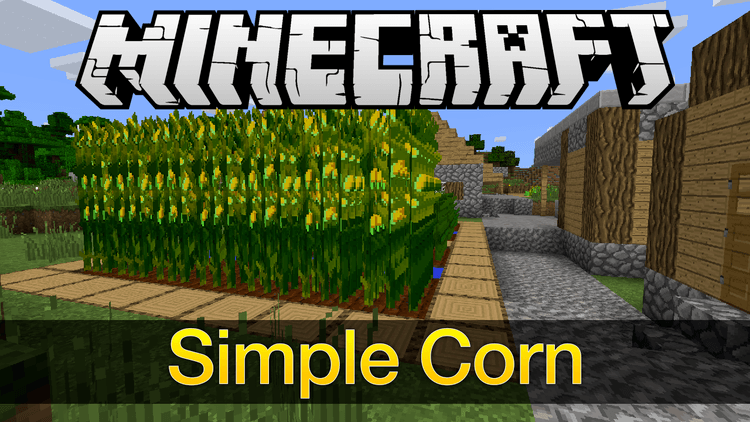 simple corn mod for minecraft logo