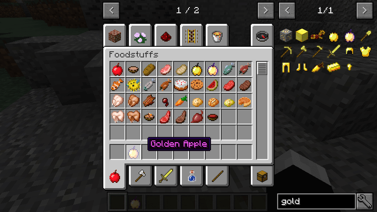 Craftable Enchanted Golden Apple Mod for minecraft 02