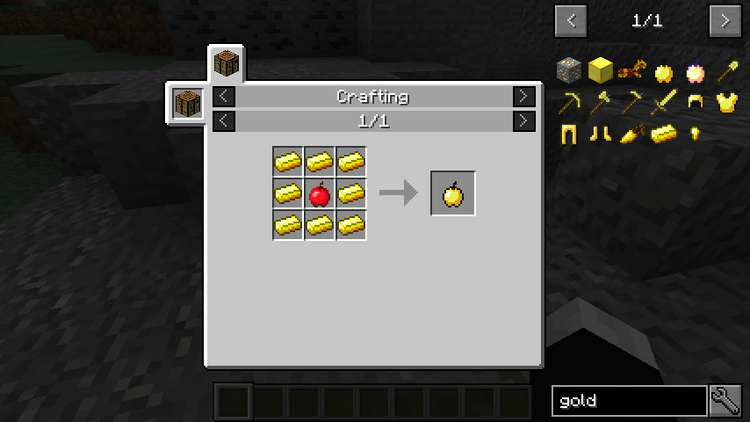 Craftable Enchanted Golden Apple Mod for minecraft 03