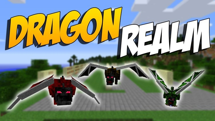 Dragon Realm mod for minecraft logo