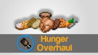Hunger overhaul mod for minecraft logo