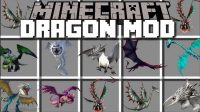 Ice and Fire Dragons in a whole new light Mod for Minecraft Logo