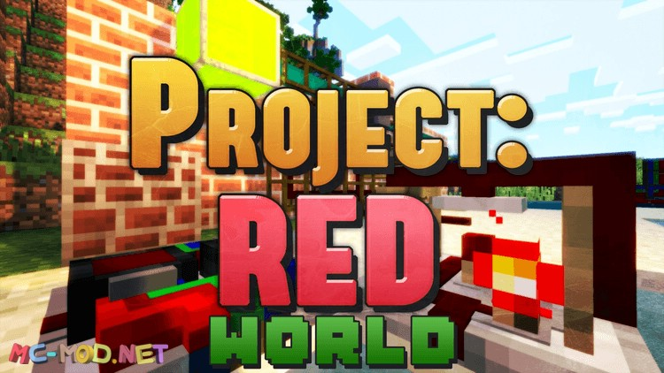 Project Red - World mod for minecraft logo