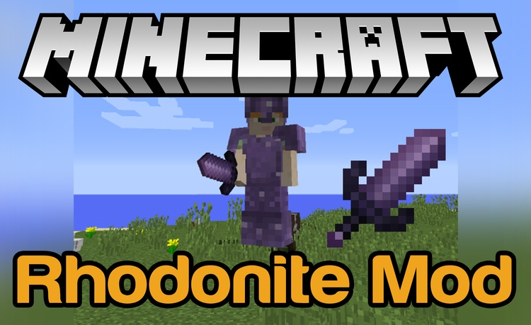 Rhodonite Tools & Armor Mod for minecraft logo