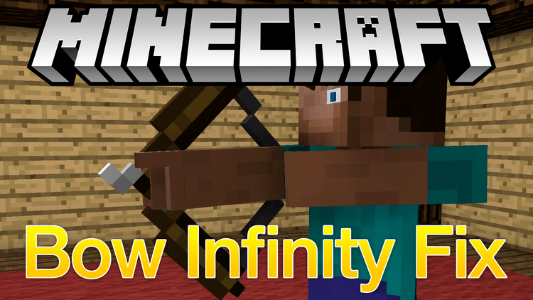 bow infinity fix mod for minecraft logo