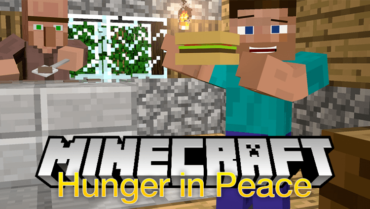 hunger in peace mod for minecraft logo