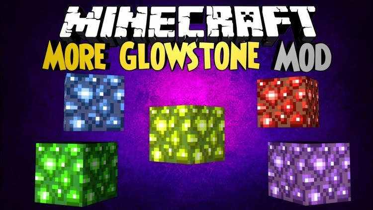 Mo' Glowstone mod for minecraft logo