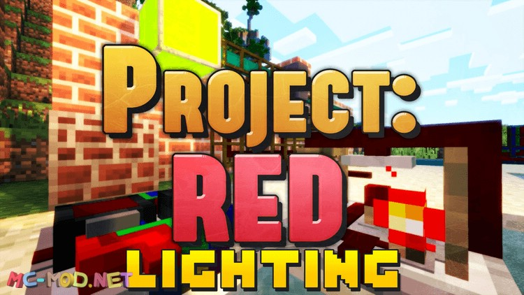 project red - lighting mod for minecraft logo