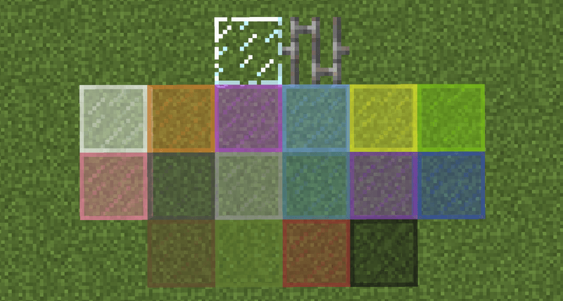Horizontal Glass Panes Mod for minecraft 1