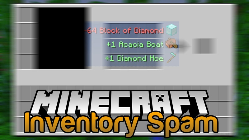 Inventory Spam Mod for minecraft logo