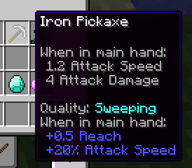 Quality Tools Mod for minecraft 1