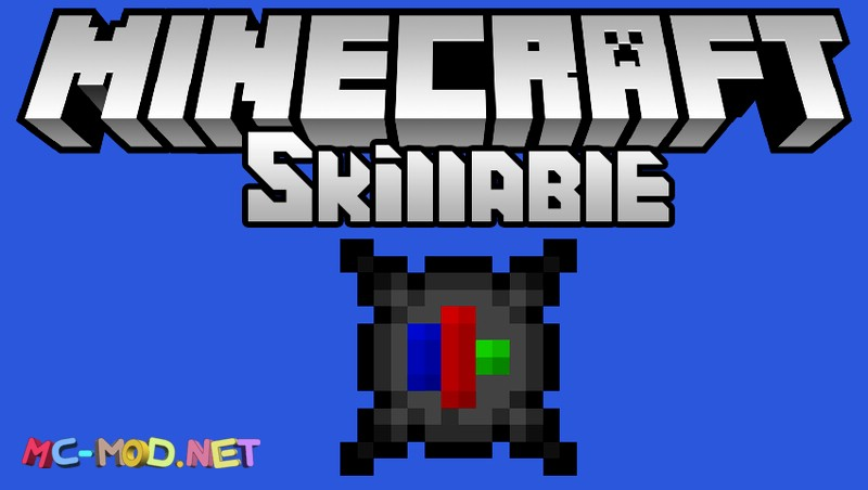 Skillable mod for minecraft logo