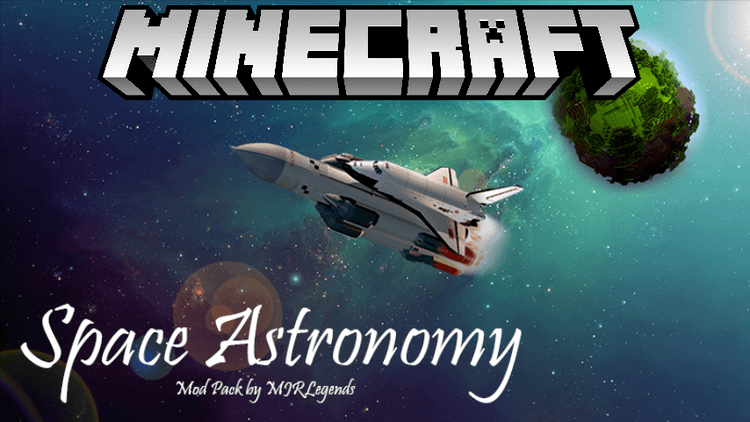 Space Astronomy Mod Pack for minecraft logo