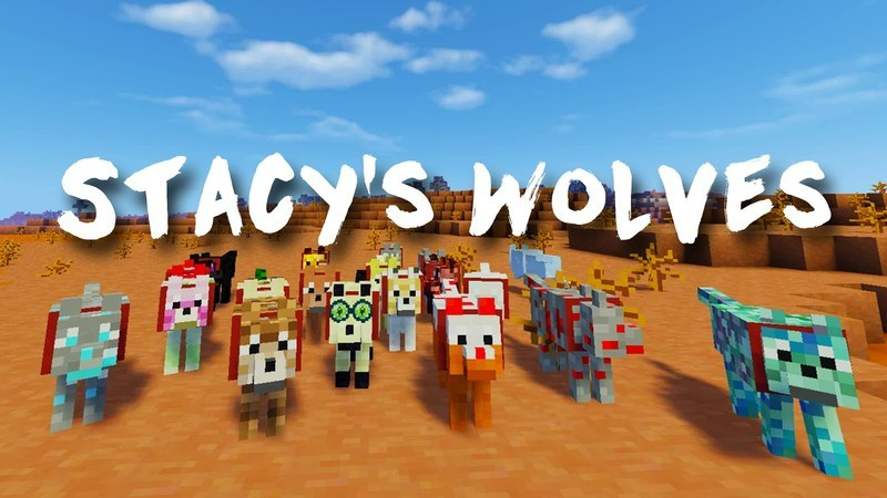 Stacy's Wolves minecraft Logo