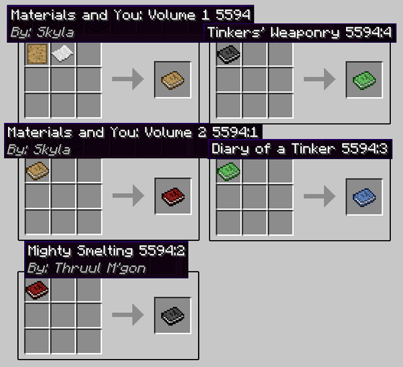 Tinkers' Construct Mod Crafting Recipe 1