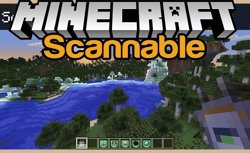 scannable mod for minecraft logo
