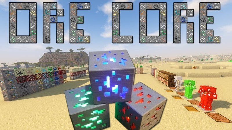 Ore Core Mod for minecraft_logo