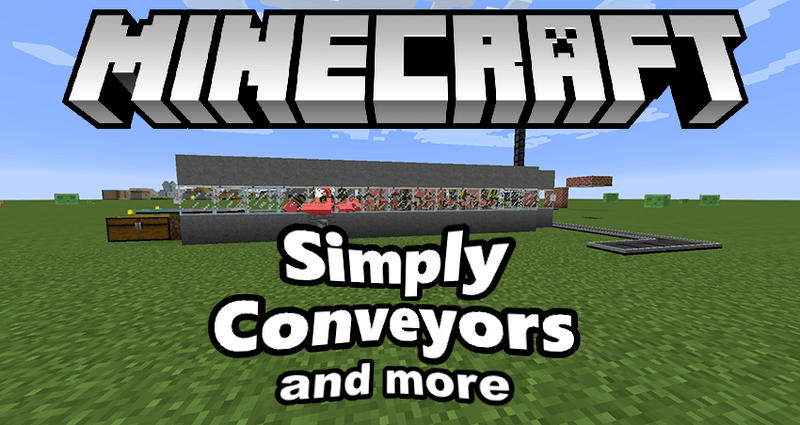 simply conveyors and more mod for minecraft logo