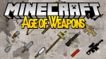 Age of weapons mod for minecraft logo