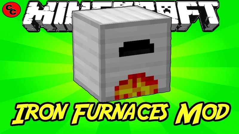Iron Furnaces Mod for Minecraft Logo