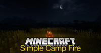 Simple Camp Fire mod for minecraft logo