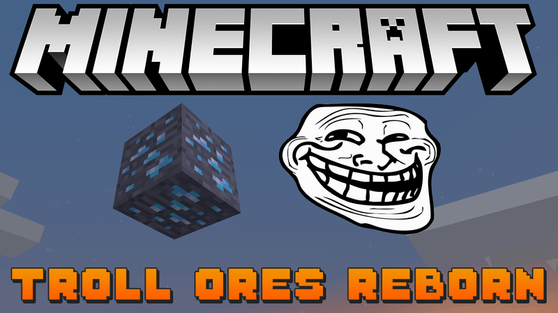 Troll Ore mod for minecraft logo
