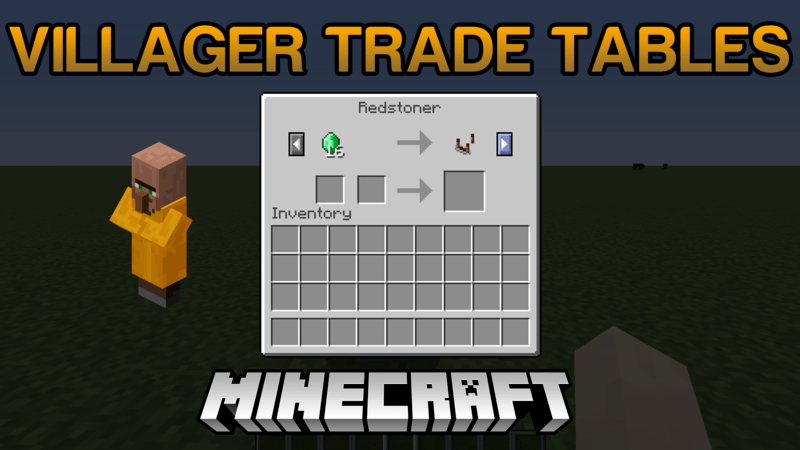 Villager Trade Tables Mod for minecraft logo