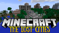 the lost cities mod for minecraft logo