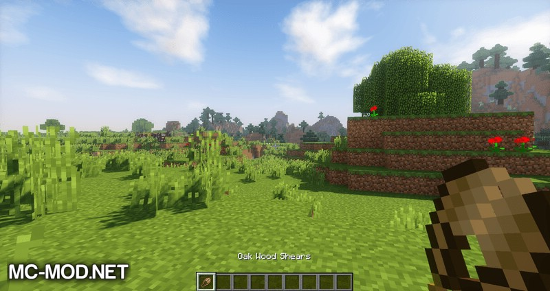 wooden shears mod for minecraft 01
