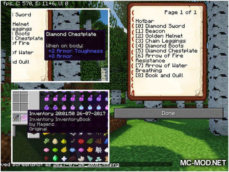Inventory Book Mod for Minecraft 2