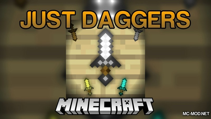 Just Daggers Mod for Minecraft Logo
