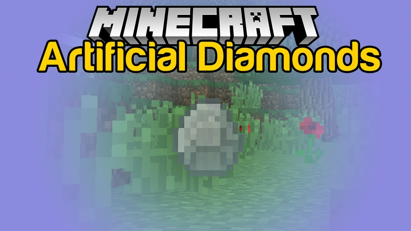 Artificial Diamonds Mod for Minecraft Logo