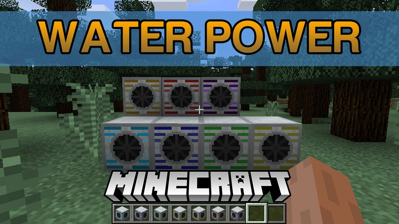 Water Power Mod for Minecraft Logo