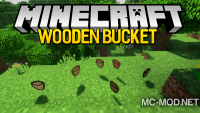 Wooden Bucket mod for minecraft logo