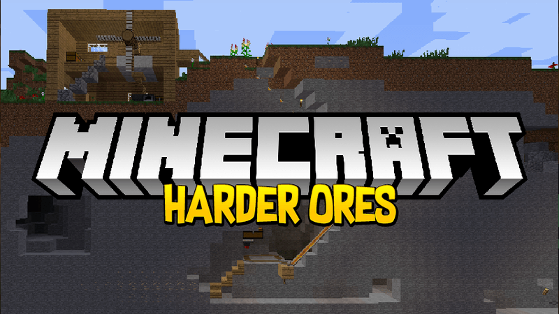 Harder ores mod for minecraft logo