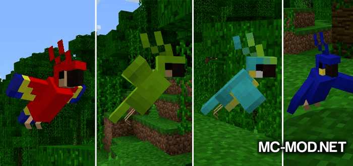 Party Parrots Mod for Minecraft 2