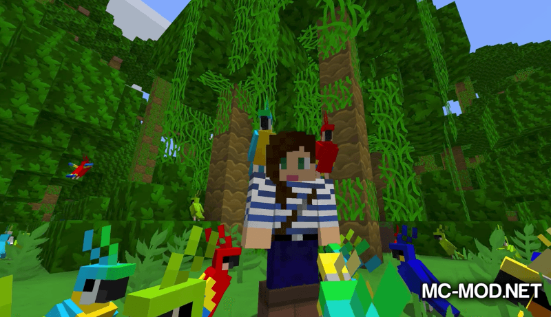 Party Parrots Mod for Minecraft 3