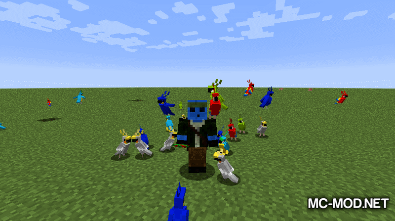 Party Parrots Mod for Minecraft 4