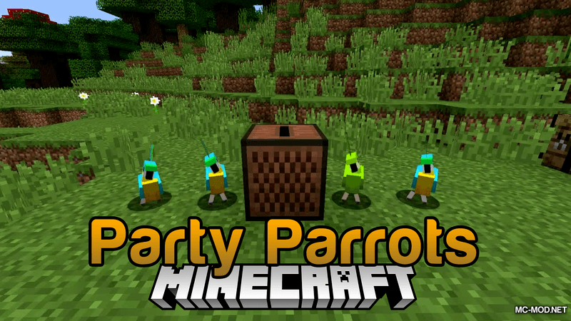 Party Parrots Mod for Minecraft Logo