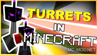 Turret mod rebirth mod for minecraft logo