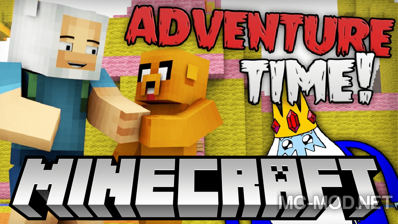 AdventureTime mod for minecraft logo