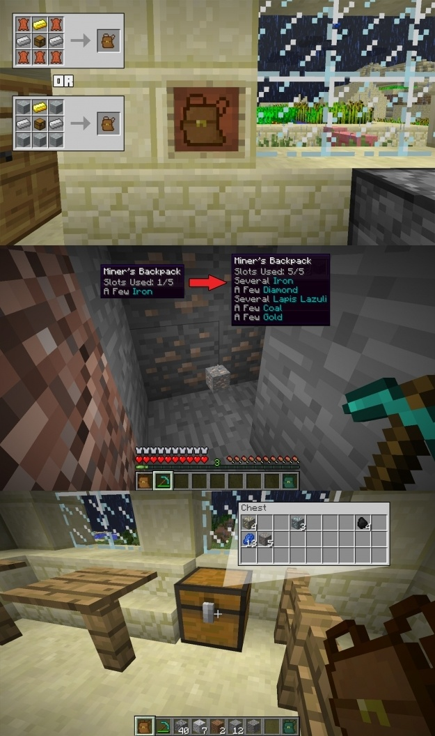Deep Pocket Mod for Minecraft 1
