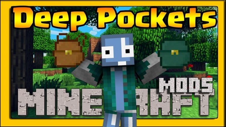 Deep Pocket Mod for Minecraft Logo
