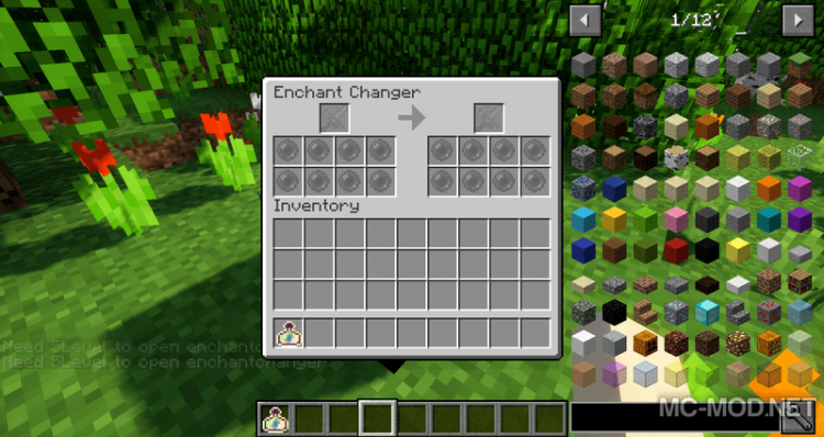 Enchant Changer mod for minecraft 07