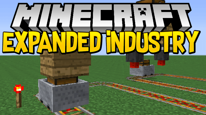 Expanded Industry mod for minecraft logo