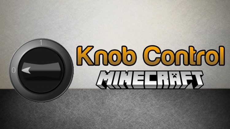 Knob Control Mod for Minecraft Logo