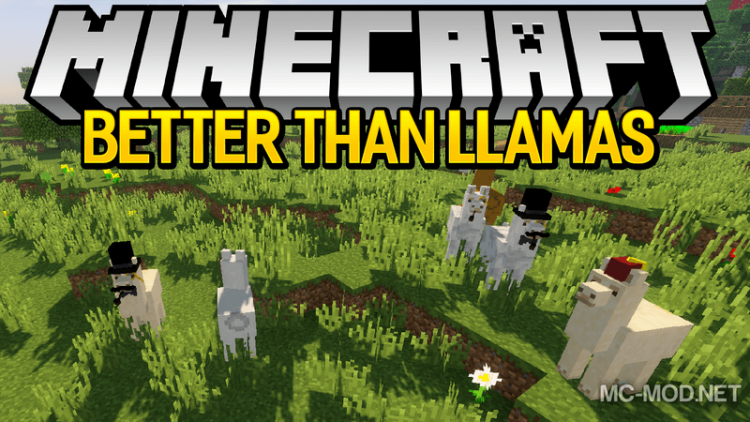 Better than llamas mod for minecraft logo