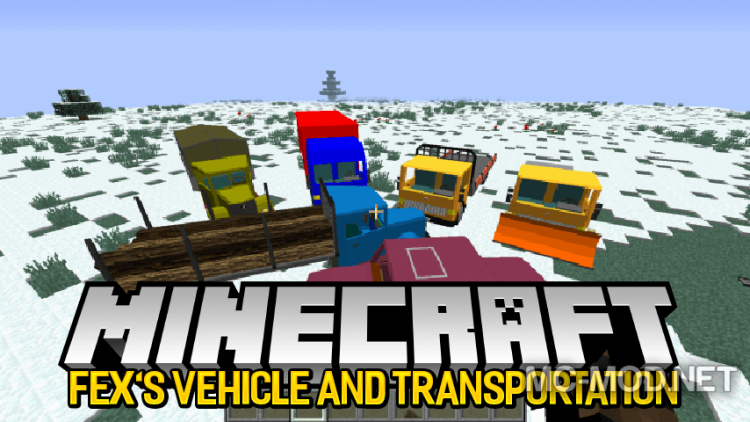 Fexs Vehicle and Transportation Mod for minecraft logo